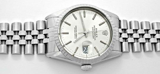 Foto 1, Rolex Datejust Herren Armbanduhr Stahl Automatik Topuhr, U1059