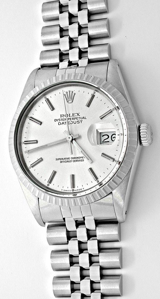 Foto 2, Rolex Datejust Herren Armbanduhr Stahl Automatik Topuhr, U1059