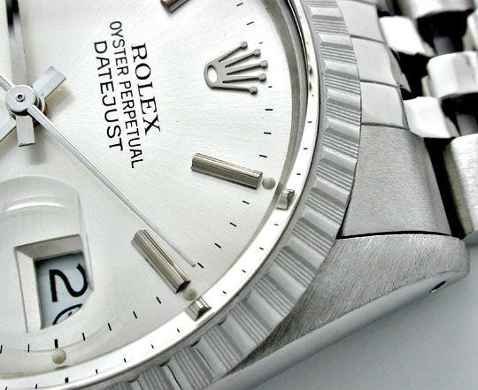 Foto 3, Rolex Datejust Herren Armbanduhr Stahl Automatik Topuhr, U1059