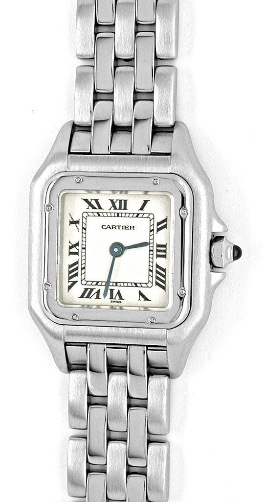 Foto 2, Cartier Panthere Damen Uhr Edelstahl Topuhr Neuzustand!, U1060