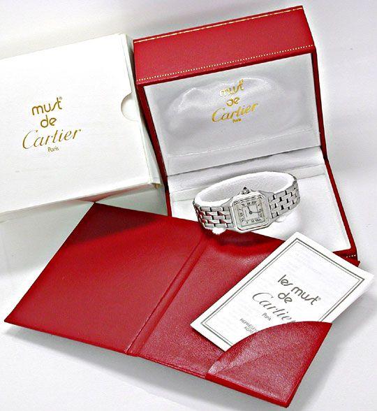 Foto 5, Cartier Panthere Damen Uhr Edelstahl Topuhr Neuzustand!, U1060