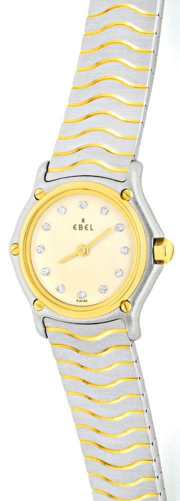 Foto 2, Ebel Sport Classic Mini STG, Diamant Zifferblatt Topuhr, U1061
