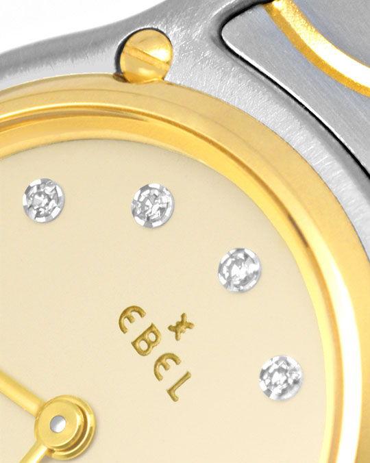 Foto 3, Ebel Sport Classic Mini STG, Diamant Zifferblatt Topuhr, U1061