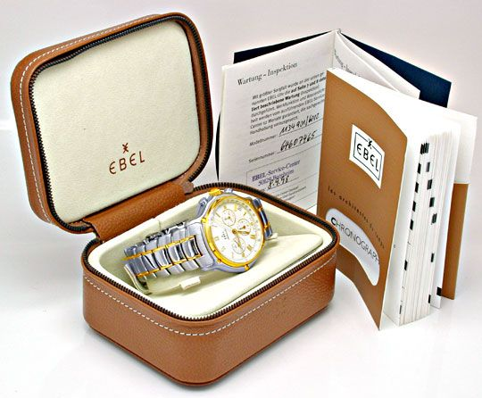 Foto 5, Ebel 1911 Chronograph Herren STG Automatik Topuhr Neuz., U1062