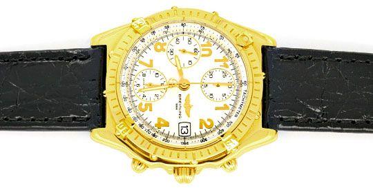 Foto 1, Breitling Chronomat Windrider Gelbgold Herrenarmbanduhr, U1064