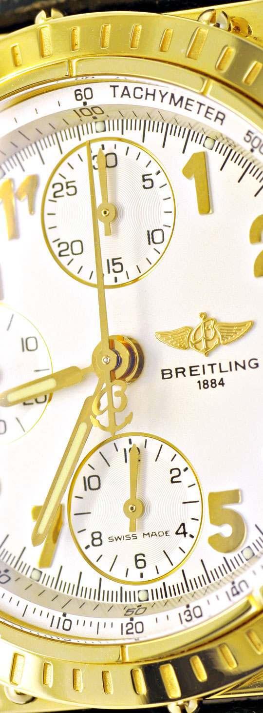 Foto 3, Breitling Chronomat Windrider Gelbgold Herrenarmbanduhr, U1064