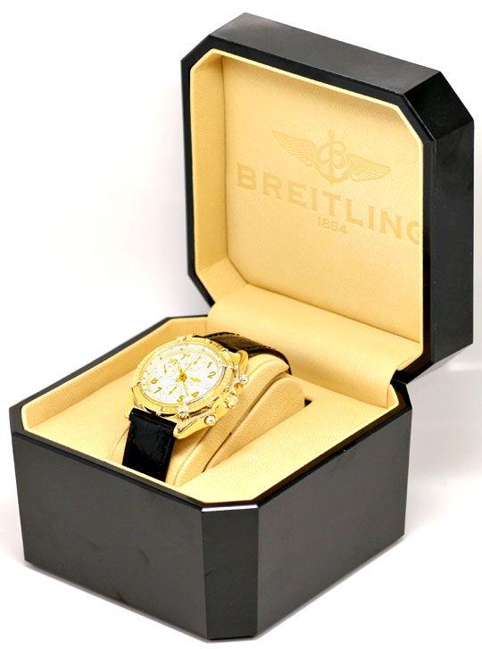 Foto 6, Breitling Chronomat Windrider Gelbgold Herrenarmbanduhr, U1064
