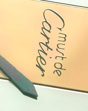 Foto 3, Damenuhr VLC Vendome Louis Cartier Silber 3 Gold Topuhr, U1068
