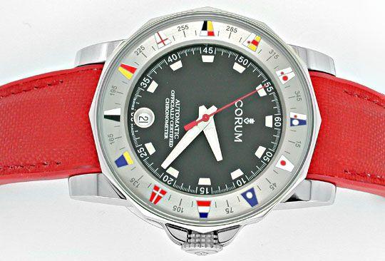 Foto 1, Corum Hr Admirals Cup ST Autom. Chronometer Topuhr Neu!, U1069