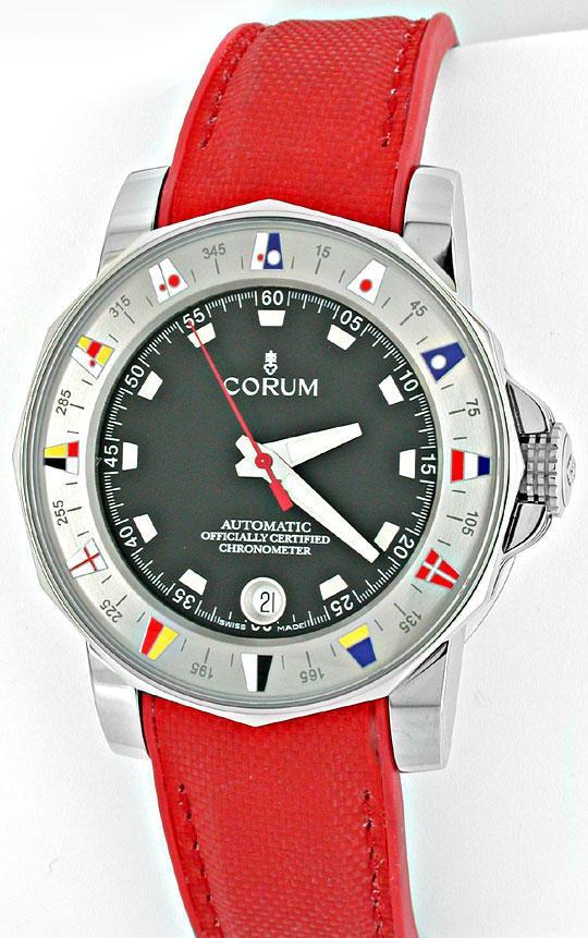 Foto 2, Corum Hr Admirals Cup ST Autom. Chronometer Topuhr Neu!, U1069