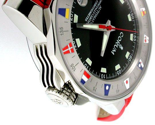 Foto 3, Corum Hr Admirals Cup ST Autom. Chronometer Topuhr Neu!, U1069