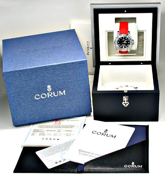 Foto 5, Corum Hr Admirals Cup ST Autom. Chronometer Topuhr Neu!, U1069
