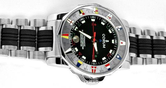Foto 1, Corum XXL Admirals Cup ST Autom. Chronometer Topuhr Neu, U1070