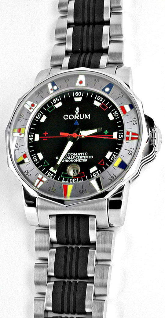 Foto 2, Corum XXL Admirals Cup ST Autom. Chronometer Topuhr Neu, U1070