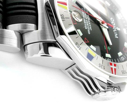 Foto 3, Corum XXL Admirals Cup ST Autom. Chronometer Topuhr Neu, U1070