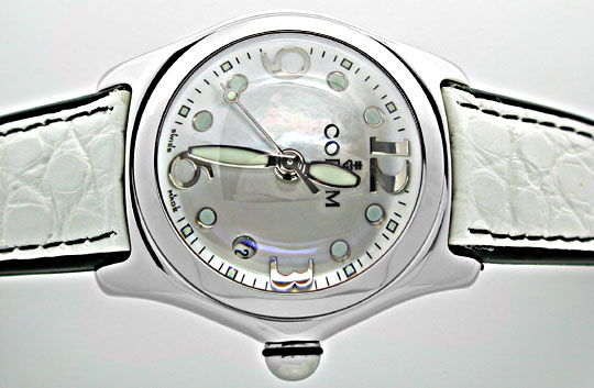 Foto 1, CORUM MEDIUM BUBBLE ST PERLMUTT-ZIFFERBLATT TOPUHR NEU!, U1076