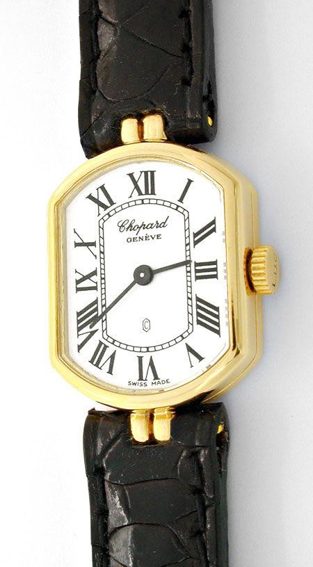 Foto 2, Chopard Damen Armbanduhr Gelbgold Quarz Topuhr Neuzust., U1077
