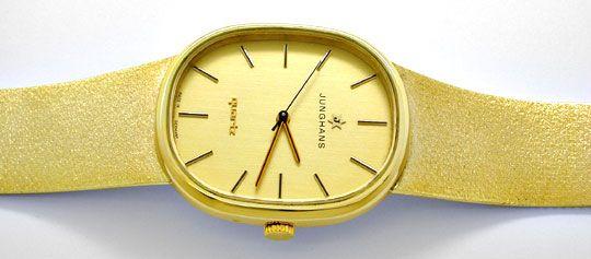 Foto 1, Junghans Herren Armbanduhr Gold Armband Gelbgold Topuhr, U1078
