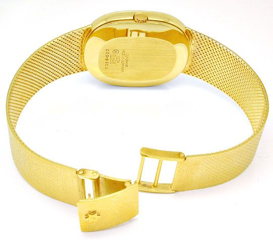 Foto 4, Junghans Herren Armbanduhr Gold Armband Gelbgold Topuhr, U1078