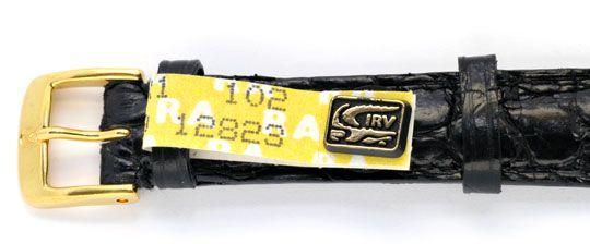 Foto 3, Damen Armbanduhr Gold Brillanten Ultraflach Topuhr Neuz, U1080