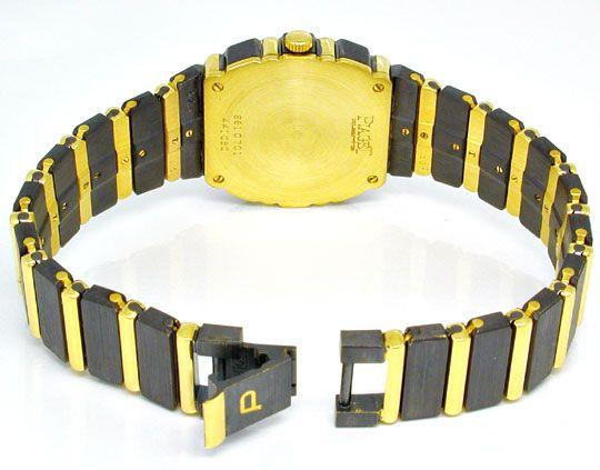 Foto 4, Piaget Polo Damen Uhr massiv Gelbgold Schwarzrhodiniert, U1083