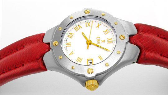 Foto 1, Ebel Sportwave Damen Armbanduhr Stahlgold Topuhr Neuw.!, U1092