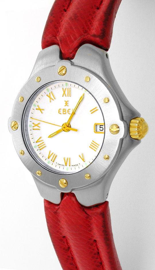 Foto 2, Ebel Sportwave Damen Armbanduhr Stahlgold Topuhr Neuw.!, U1092