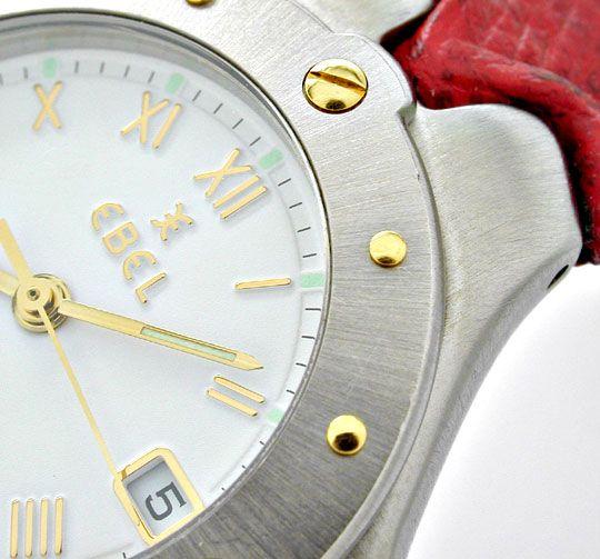 Foto 3, Ebel Sportwave Damen Armbanduhr Stahlgold Topuhr Neuw.!, U1092