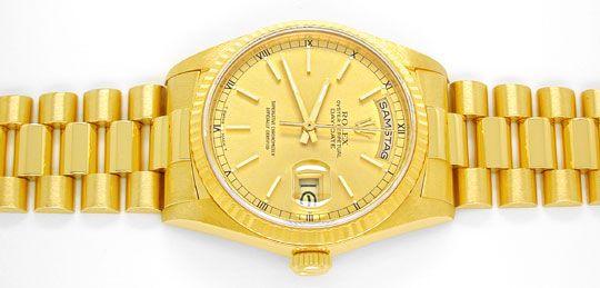 Foto 1, Rolex Day Date Präsidentarmband Gelbgold Geprüft Neuw.!, U1093