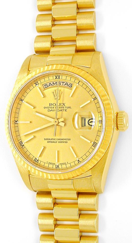 Foto 2, Rolex Day Date Präsidentarmband Gelbgold Geprüft Neuw.!, U1093