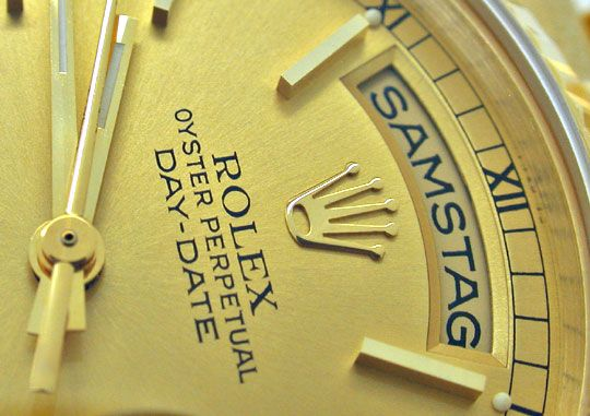 Foto 3, Rolex Day Date Präsidentarmband Gelbgold Geprüft Neuw.!, U1093
