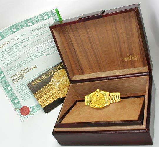 Foto 5, Rolex Day Date Präsidentarmband Gelbgold Geprüft Neuw.!, U1093