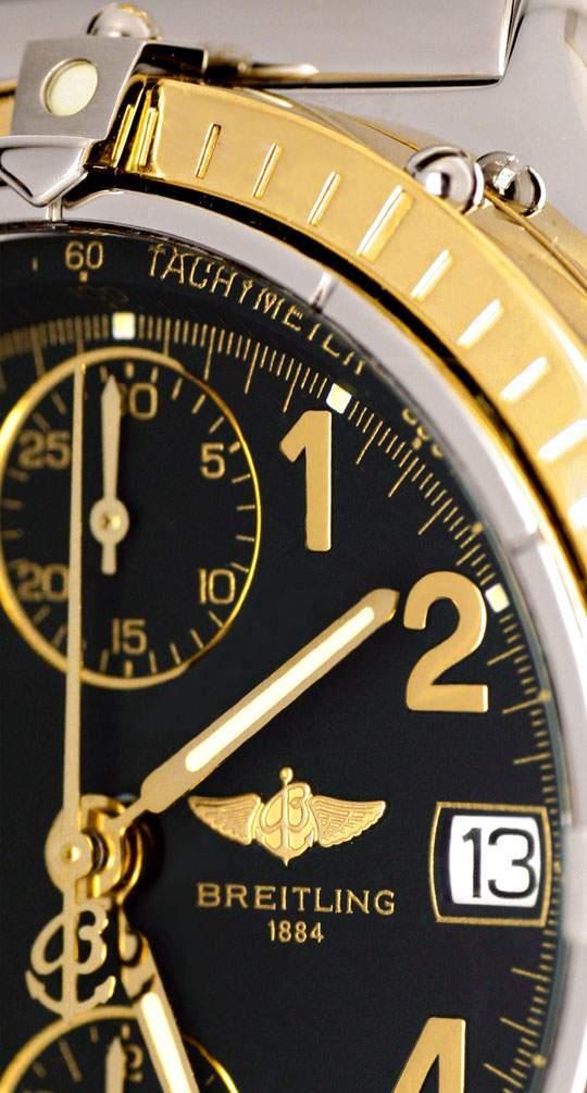 Foto 4, Breitling Chronomat Windrinder, Pilot Stahlgold, Topuhr, U1094