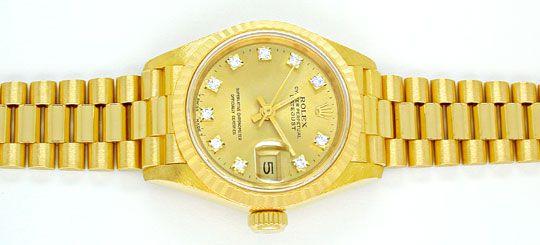 Foto 1, Rolex Datejust Da Gold Diamantzifferblatt Geprüft Neuz., U1096