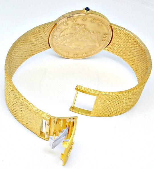 Foto 6, Corum 20 Dollar Armbanduhr Milanaise Band Geprüft Neuz., U1097