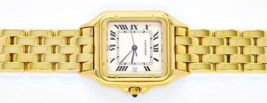Foto 1, Cartier Herren Armbanduhr Panthere 18K Gelbgold Geprüft, U1099