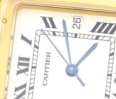 Foto 3, Cartier Herren Armbanduhr Panthere 18K Gelbgold Geprüft, U1099