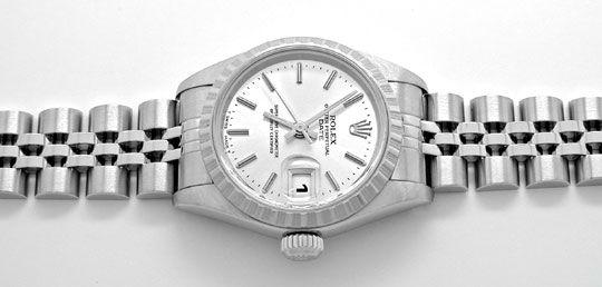 Foto 1, Rolex Date Damen Oyster Perpetual Stahl Topuhr Neuzust., U1102