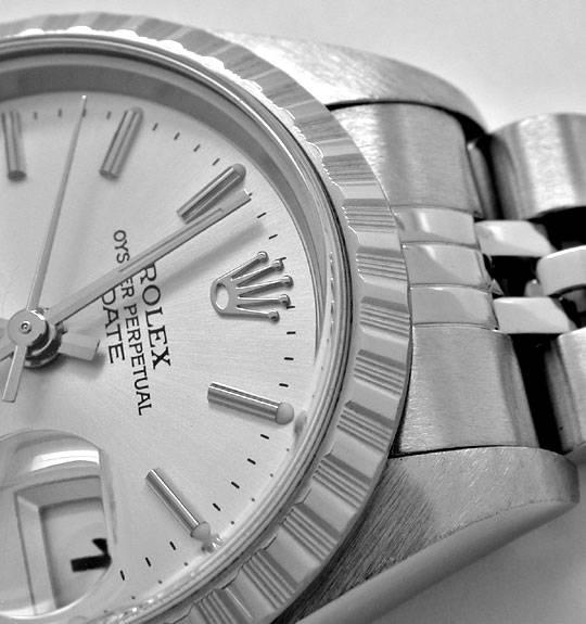 Foto 3, Rolex Date Damen Oyster Perpetual Stahl Topuhr Neuzust., U1102