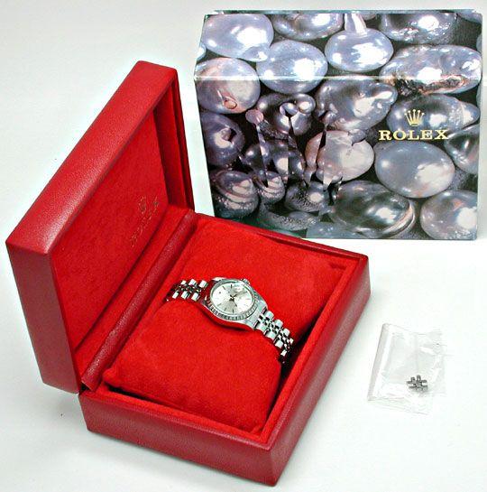Foto 5, Rolex Date Damen Oyster Perpetual Stahl Topuhr Neuzust., U1102