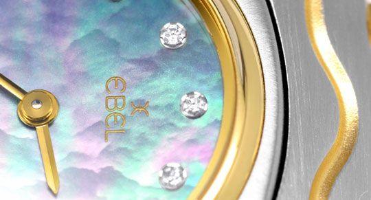 Foto 3, Ebel Mini Sport Classic Perlmutt Diamanten Ziff. Topuhr, U1104