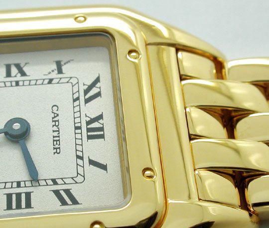 Foto 3, Cartier Panthere Damen Armband Uhr 18K Gelbgold Geprüft, U1107