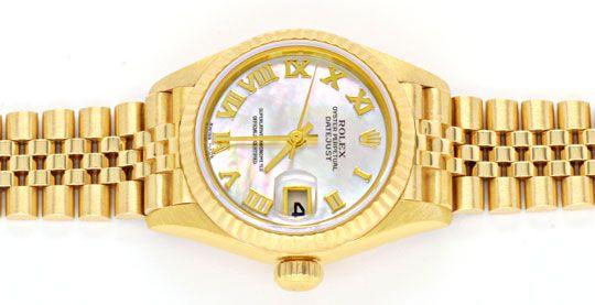 Foto 1, Rolex Datejust Da Gold Perlmut Zifferblatt Geprüft Neuw, U1108