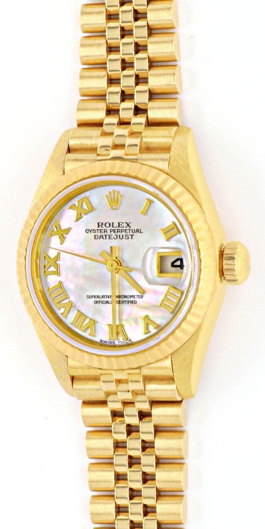 Foto 2, Rolex Datejust Da Gold Perlmut Zifferblatt Geprüft Neuw, U1108