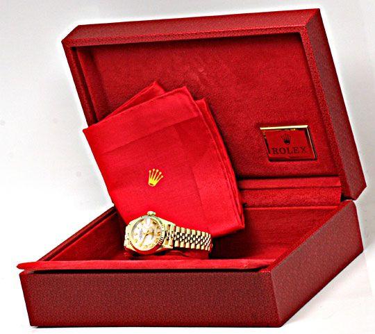 Foto 5, Rolex Datejust Da Gold Perlmut Zifferblatt Geprüft Neuw, U1108