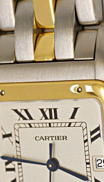 Foto 4, Cartier Panthere XXL Rarität Edelstahl Stahlgold Topuhr, U1109