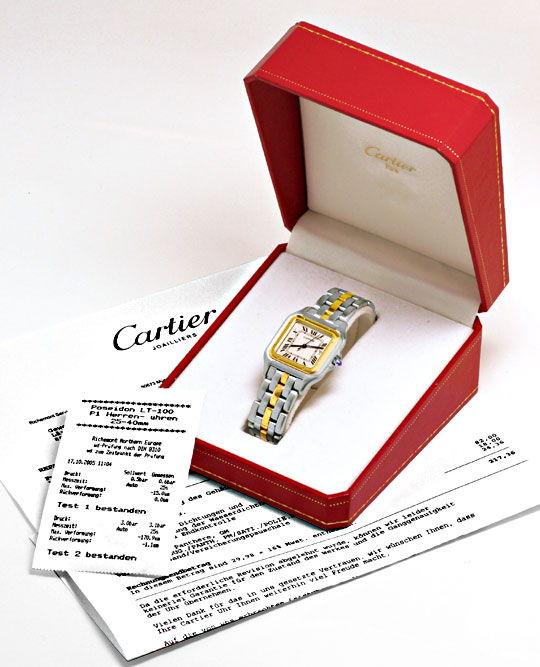 Foto 5, Cartier Panthere XXL Rarität Edelstahl Stahlgold Topuhr, U1109