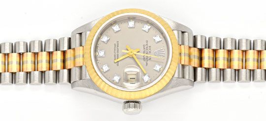 Foto 1, Rolex Datejust Tridor Damen Diamanten Geprüft Neuzust.!, U1112