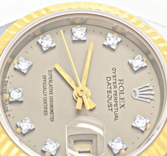 Foto 3, Rolex Datejust Tridor Damen Diamanten Geprüft Neuzust.!, U1112