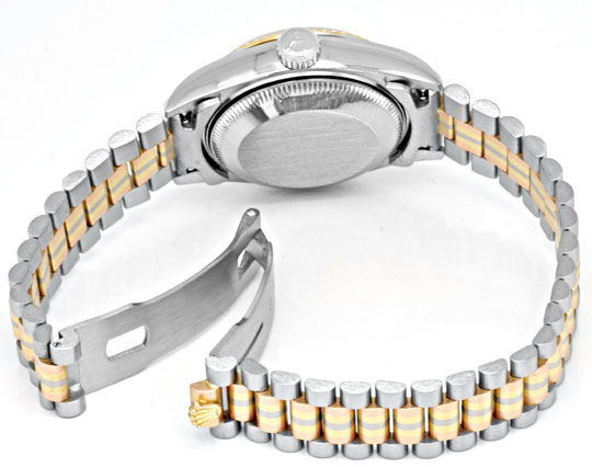 Foto 5, Rolex Datejust Tridor Damen Diamanten Geprüft Neuzust.!, U1112